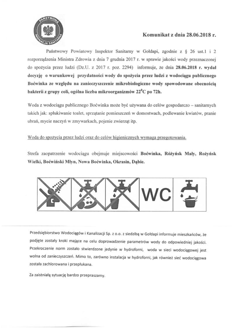 Komunikat Boćwinka