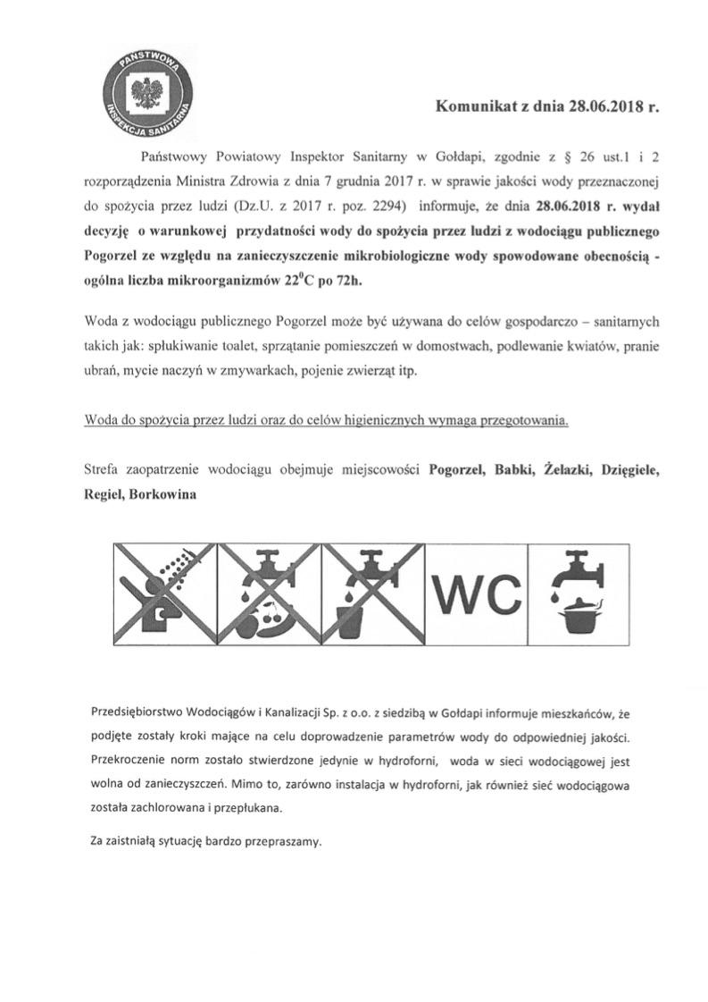 Komunikat Pogorzel